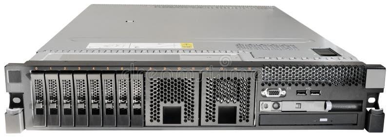 isolerad rackmount serverwhite royaltyfri bild