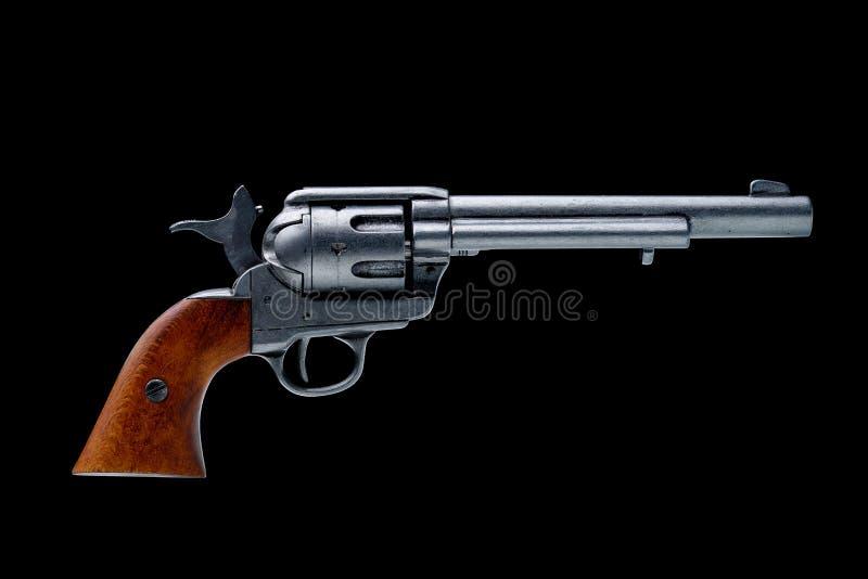 Isolerad revolverpistol royaltyfri foto