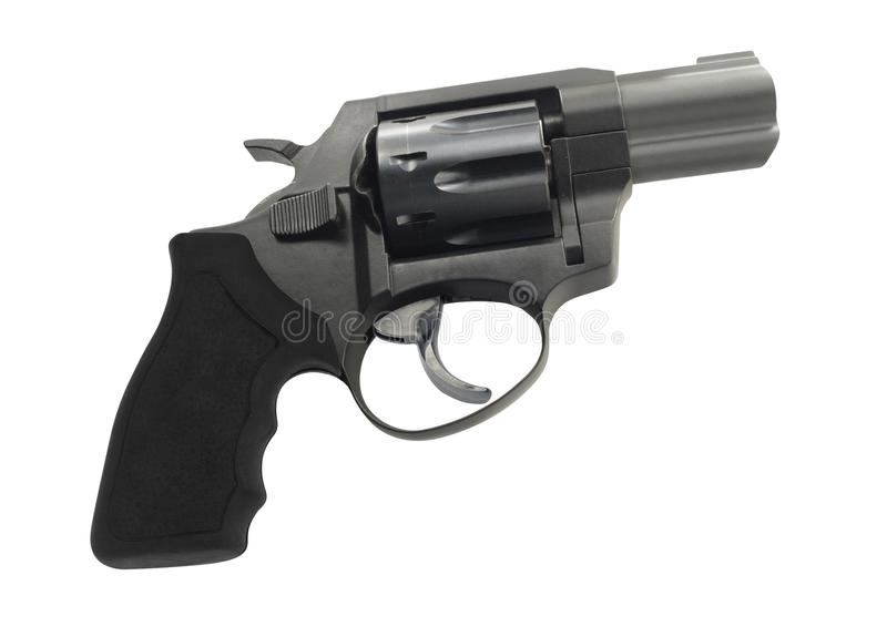 isolerad revolverwhite arkivbild