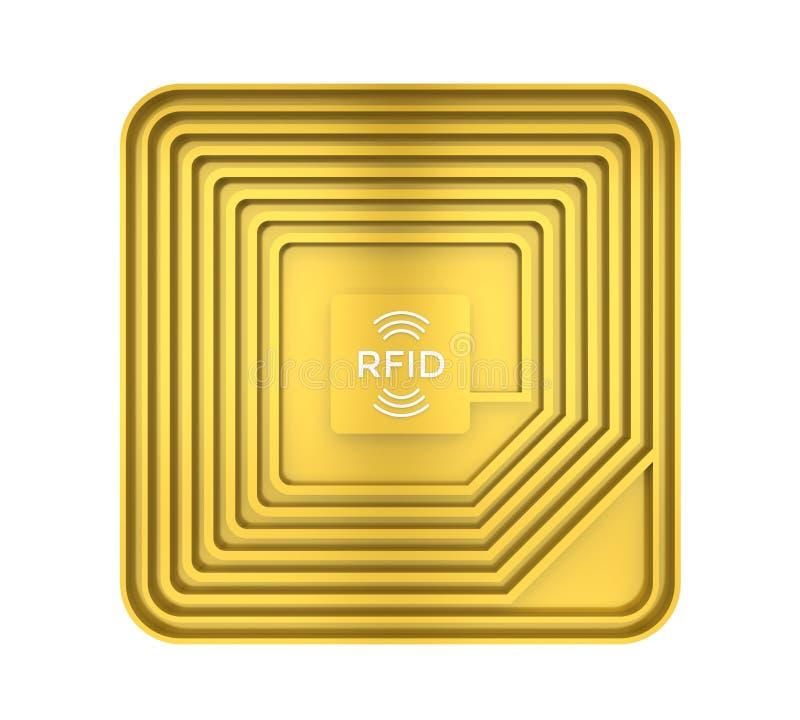 Isolerad RFID-etikett royaltyfri illustrationer