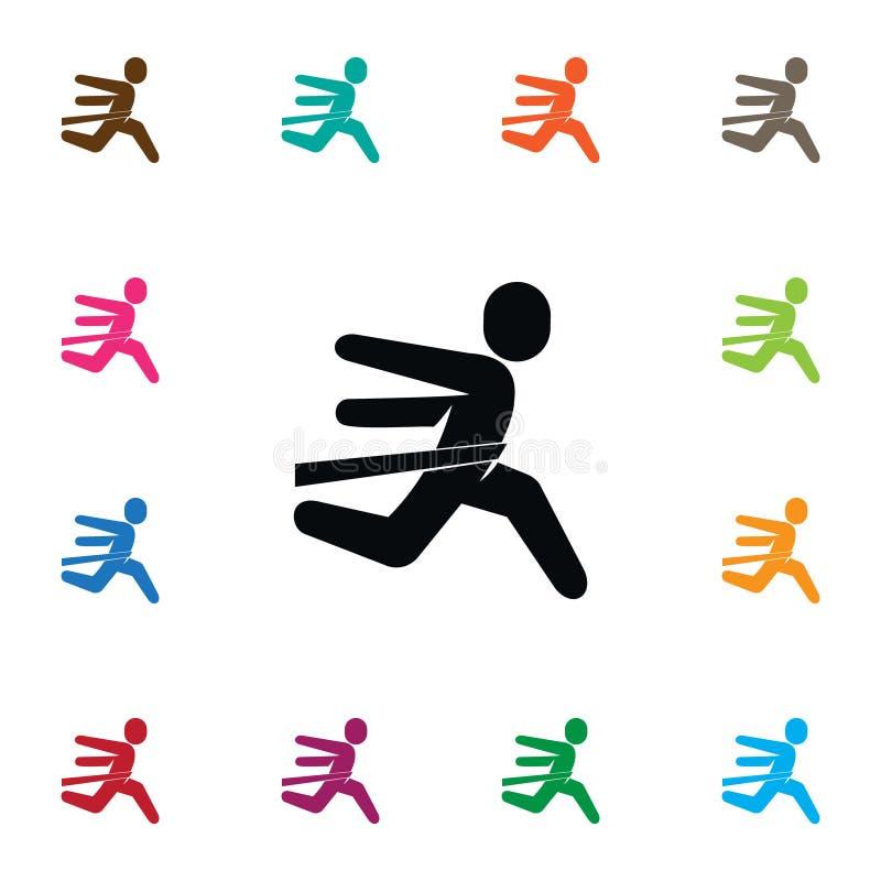 Isolerad rinnande symbol Vinnarevektorbeståndsdelen kan användas för att köra, vinnaren, idrottsmandesignbegrepp vektor illustrationer
