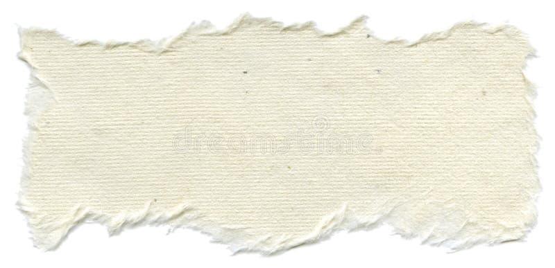 Isolerad rispappertextur - kräm- vit  royaltyfria bilder
