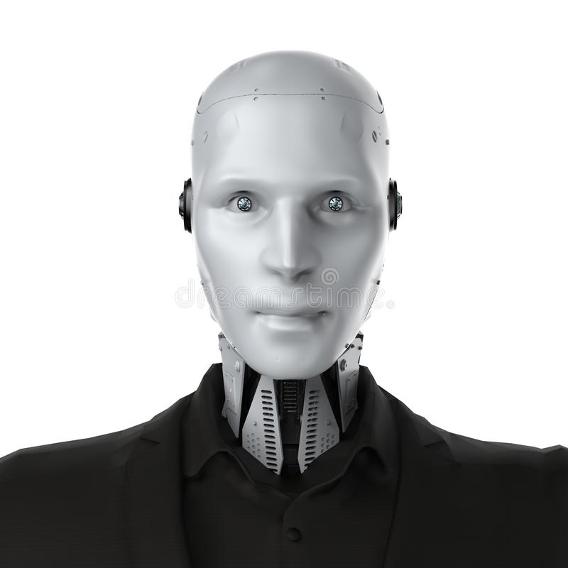 Isolerad Robotic aff?rsman stock illustrationer