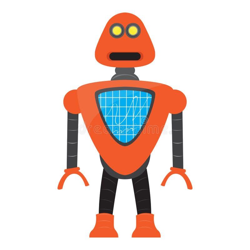 Isolerad robotleksak - vektor royaltyfri illustrationer