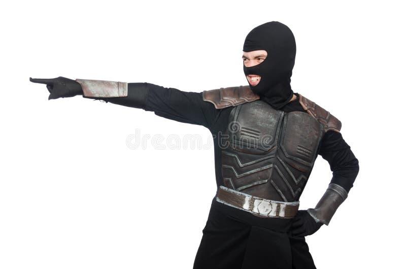 Isolerad rolig ninja arkivbilder