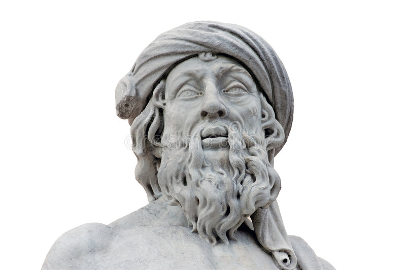 isolerad roman staty royaltyfria foton