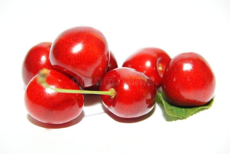 isolerad sött white för Cherry frukter royaltyfri fotografi