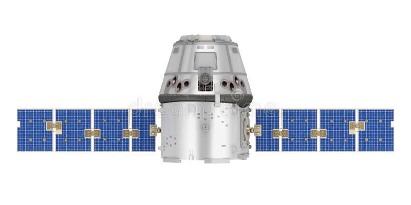 Isolerad satellit vektor illustrationer