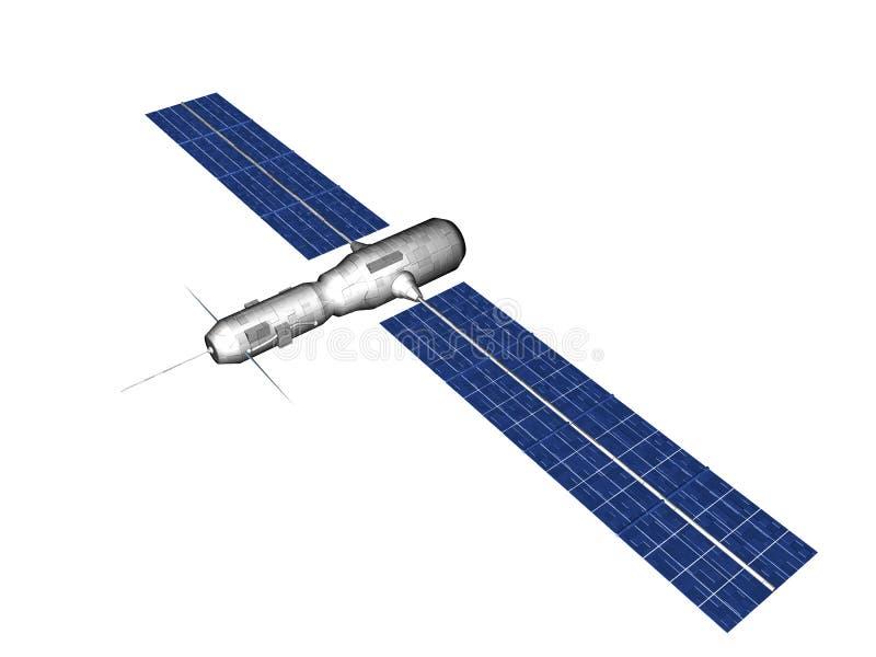 isolerad satellit stock illustrationer