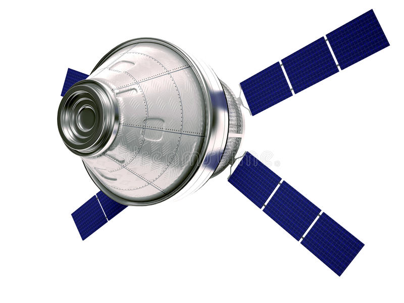 Isolerad satellit royaltyfria foton