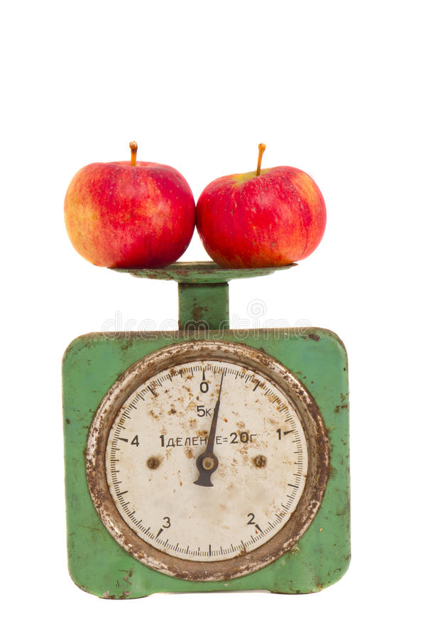 isolerad scaletappning för äpplen grunge royaltyfri foto