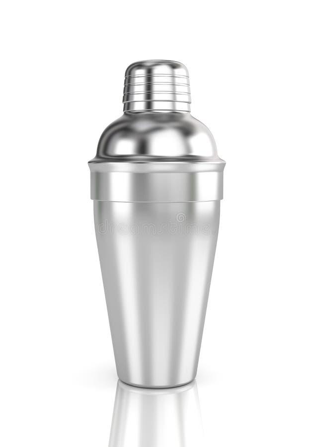 isolerad shakerwhite för bakgrund coctail stock illustrationer