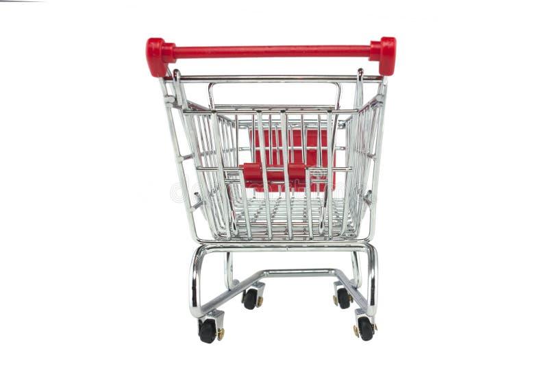 isolerad shoppa trolley royaltyfria bilder