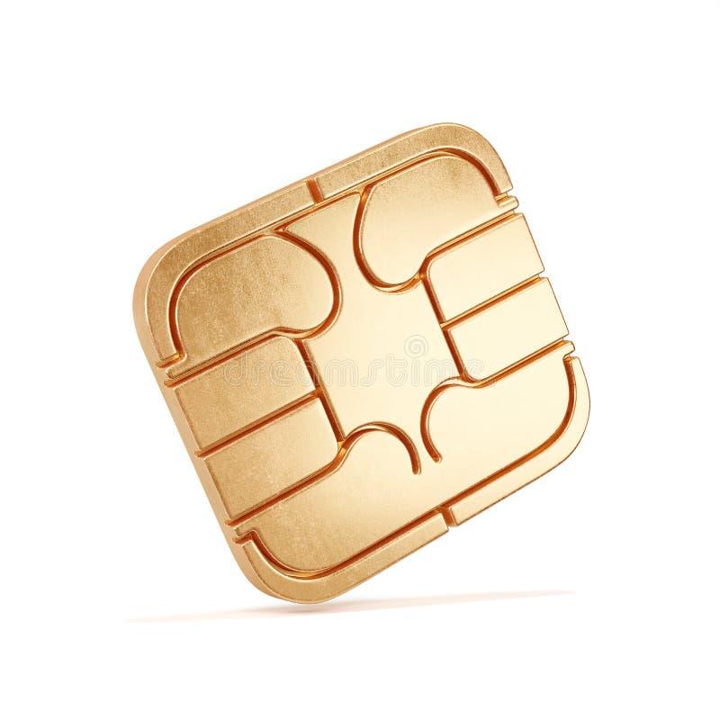 Isolerad SIM-kortchip royaltyfri illustrationer