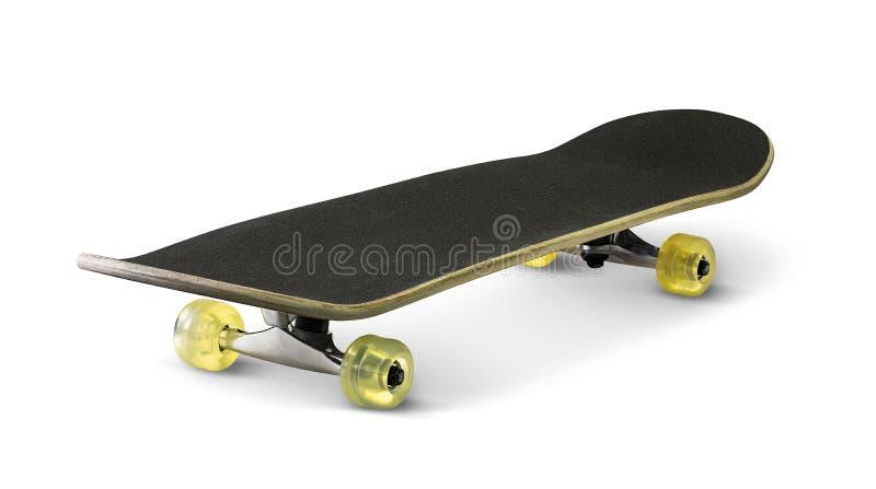 isolerad skateboardwhite royaltyfri bild