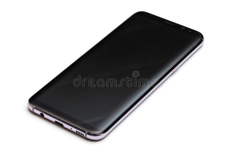 isolerad smart white för telefon royaltyfri bild