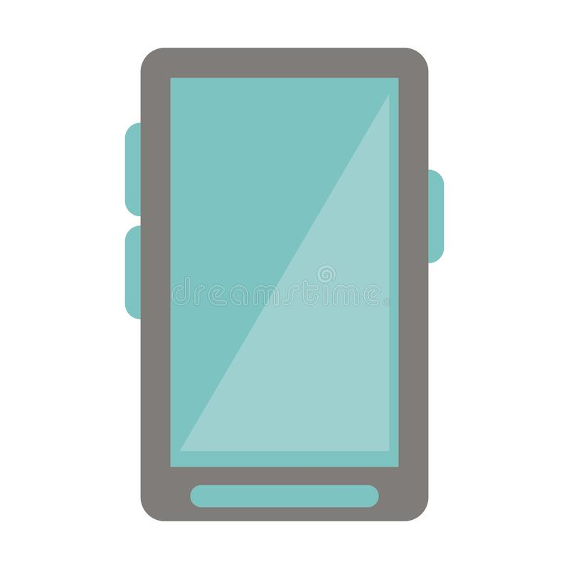 Isolerad Smartphone mobil communicaitonteknologi vektor illustrationer