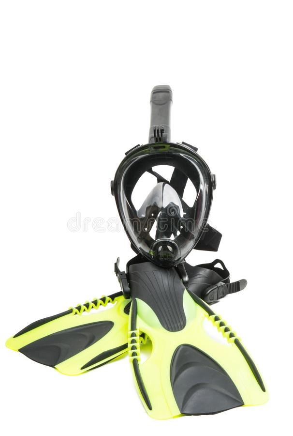 isolerad snorkelmaskering royaltyfria foton