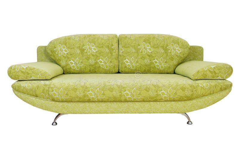 isolerad sofa royaltyfri bild