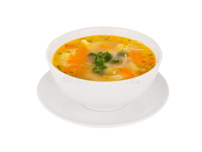Isolerad Soup royaltyfri bild