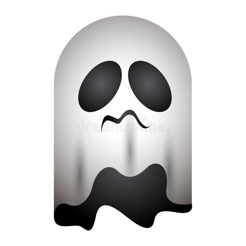 Isolerad spökesymbol stock illustrationer