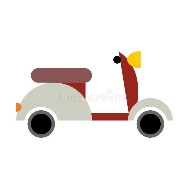 isolerad sparkcykel Transportsymbol på vit bakgrund royaltyfri illustrationer
