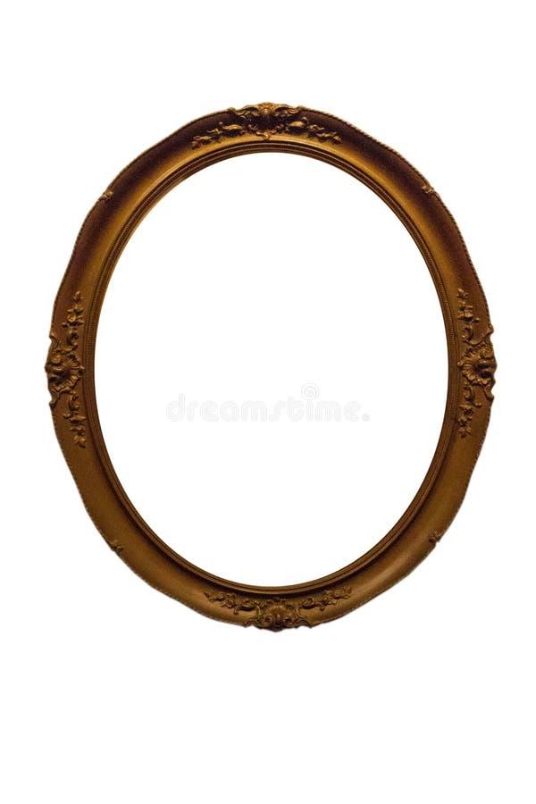 Isolerad spegelram, dekorering, tr?material arkivfoton