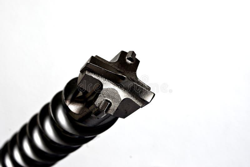 isolerad spets för bit drill arkivfoton