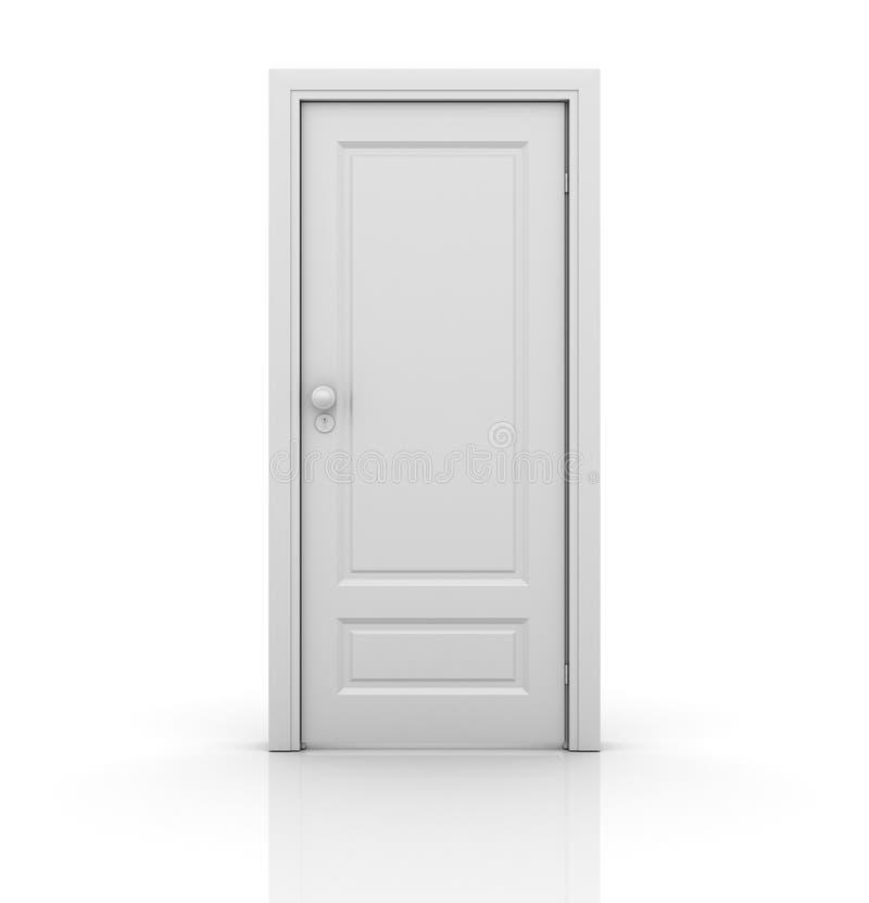 Isolerad stängd dörr vektor illustrationer