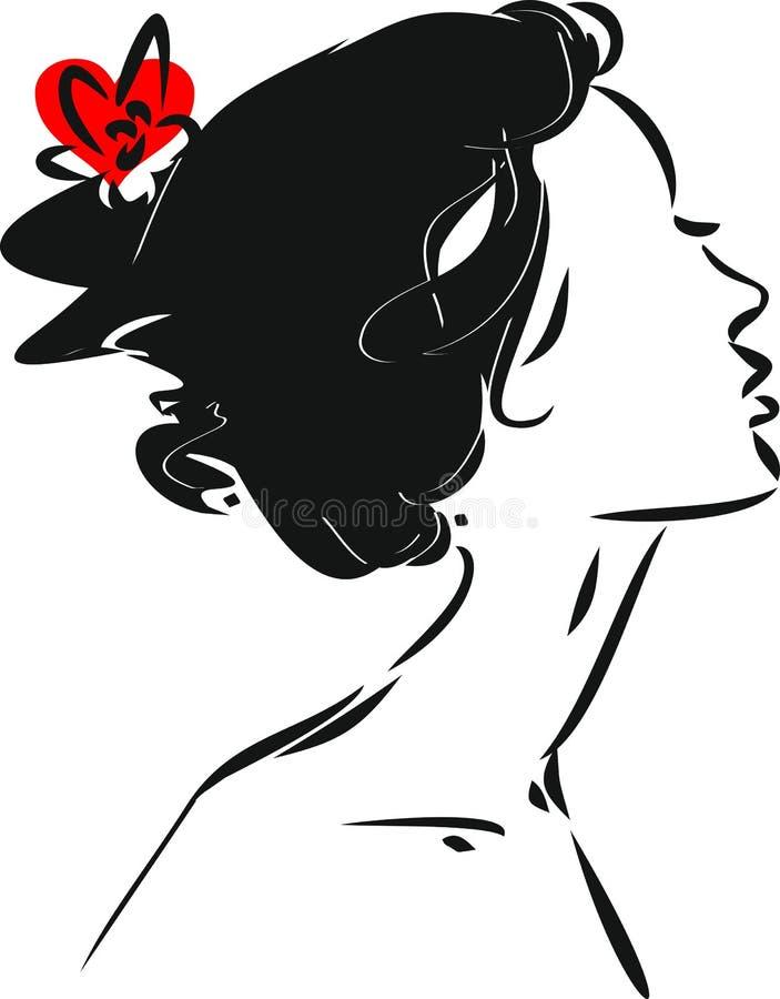 isolerad ståendewhite för dansare flamenco royaltyfri illustrationer