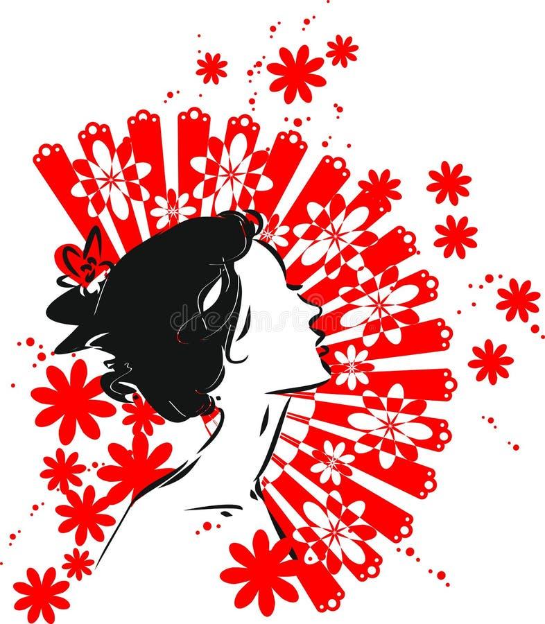 isolerad ståendewhite för dansare flamenco vektor illustrationer
