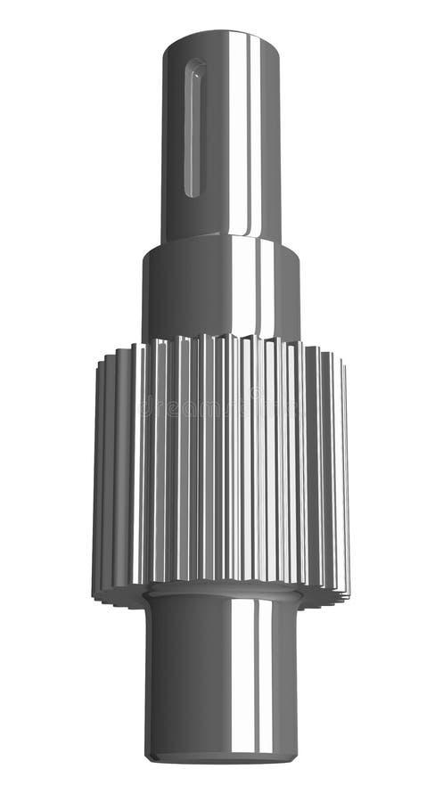 Isolerad stålkugghjulaxel vektor illustrationer