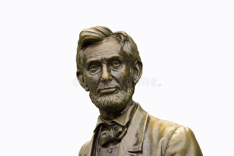 Isolerad staty av Abraham Lincoln fotografering för bildbyråer