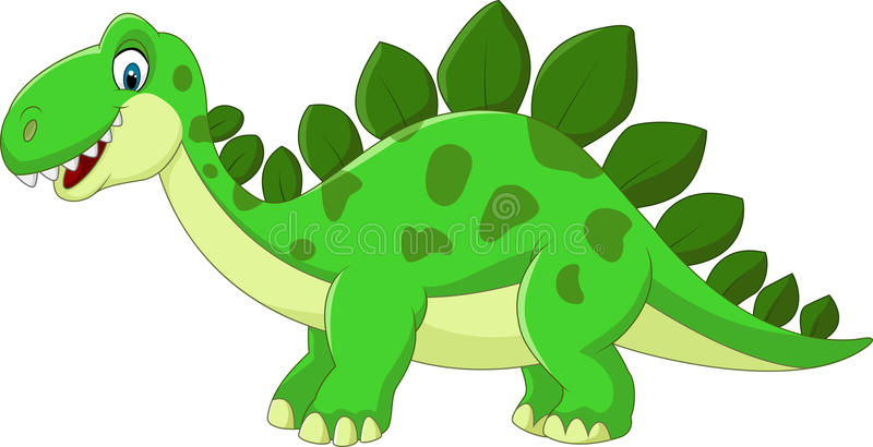 isolerad stegosauruswhite för tecknad film dinosaur stock illustrationer