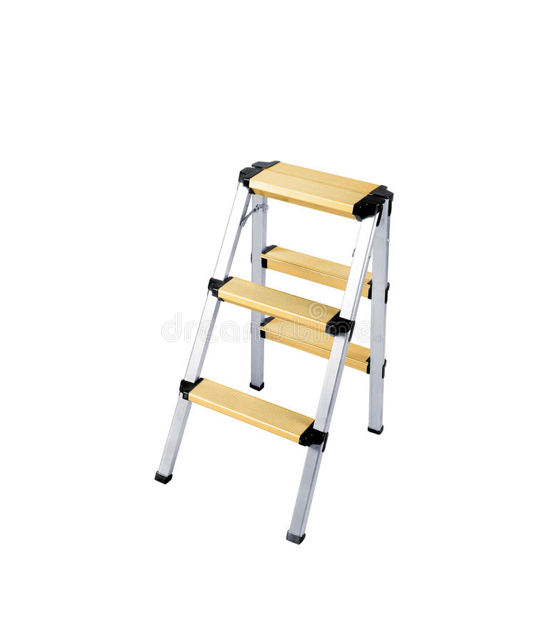 isolerad stepladder royaltyfri illustrationer