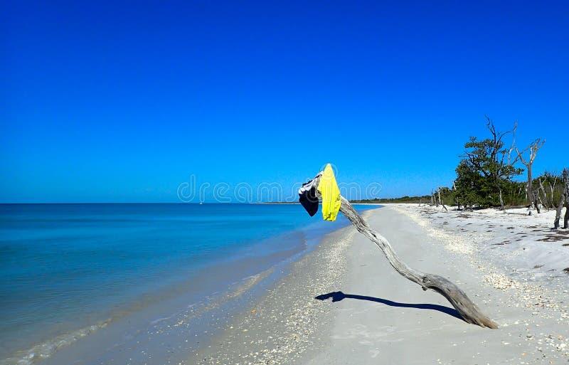 Isolerad strand med inga personer arkivbild
