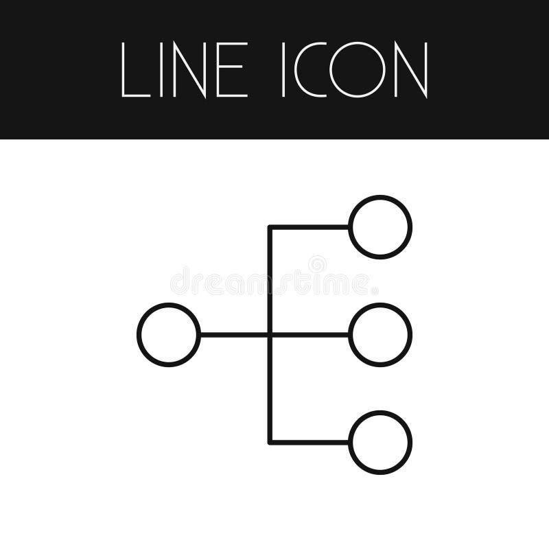 Isolerad strukturöversikt Hierarkivektorbeståndsdelen kan användas för hierarki, strukturerar, modellerar Design Concept stock illustrationer