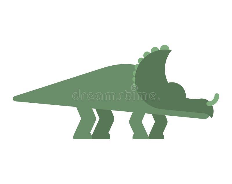 Isolerad Styracosaurusdinosaurie Forntida djur Dino prehistori vektor illustrationer