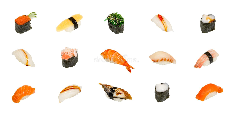 isolerad sushiwhite royaltyfri foto