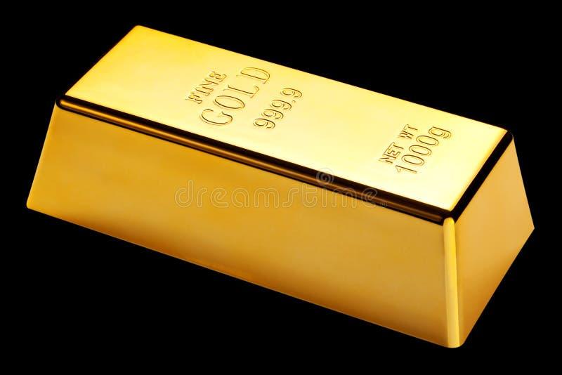 isolerad svart guld för stång arkivfoton