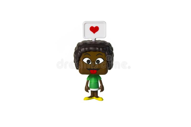 Isolerad svart man, sinnesrörelse arkivfoton