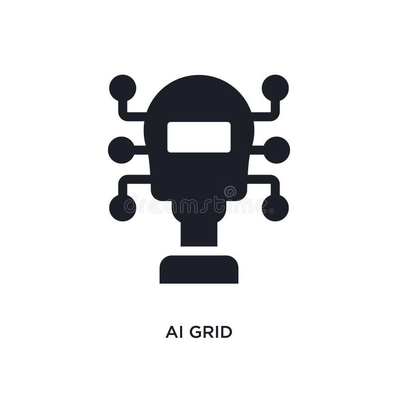 isolerad symbol för ai raster enkel beståndsdelillustration från konstgjorda intellegencebegreppssymboler symbol för tecken för l vektor illustrationer