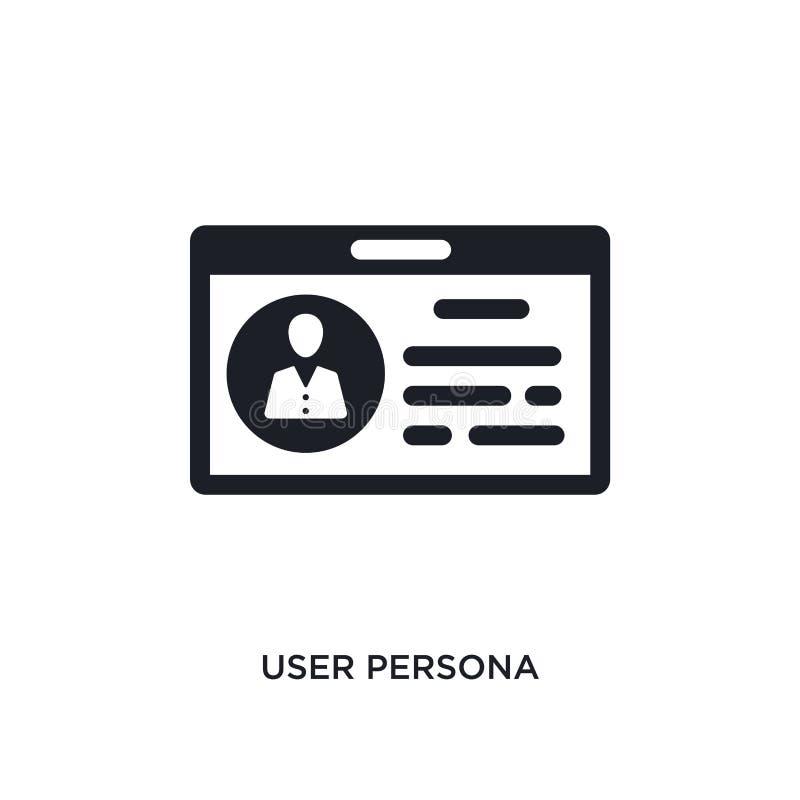 isolerad symbol för användare image enkel beståndsdelillustration från teknologibegreppssymboler symbol för tecken för logo för a stock illustrationer