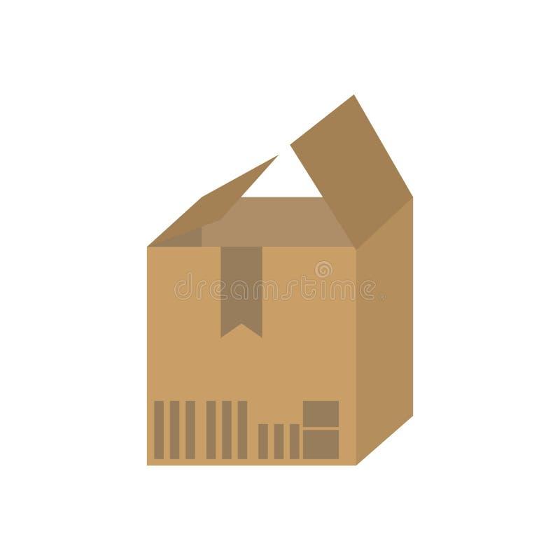 Isolerad symbol för asklåda emballage vektor illustrationer