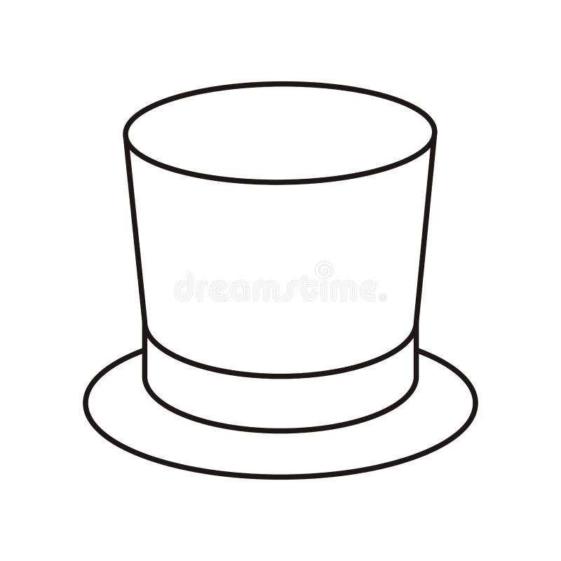Isolerad symbol för bästa hatt vektor illustrationer