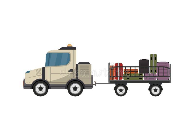 Isolerad symbol för bagage vagn vektor illustrationer