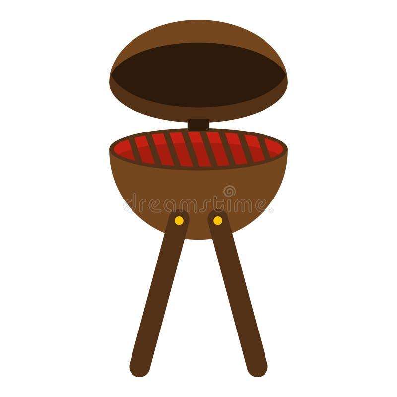 Isolerad symbol för BBQ-partigaller royaltyfri illustrationer