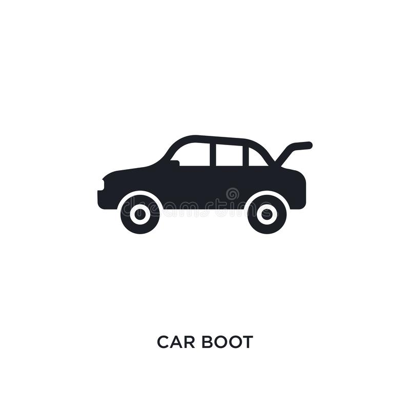 isolerad symbol för bil känga enkel beståndsdelillustration från symboler för bildelbegrepp design för symbol för tecken för logo royaltyfri illustrationer