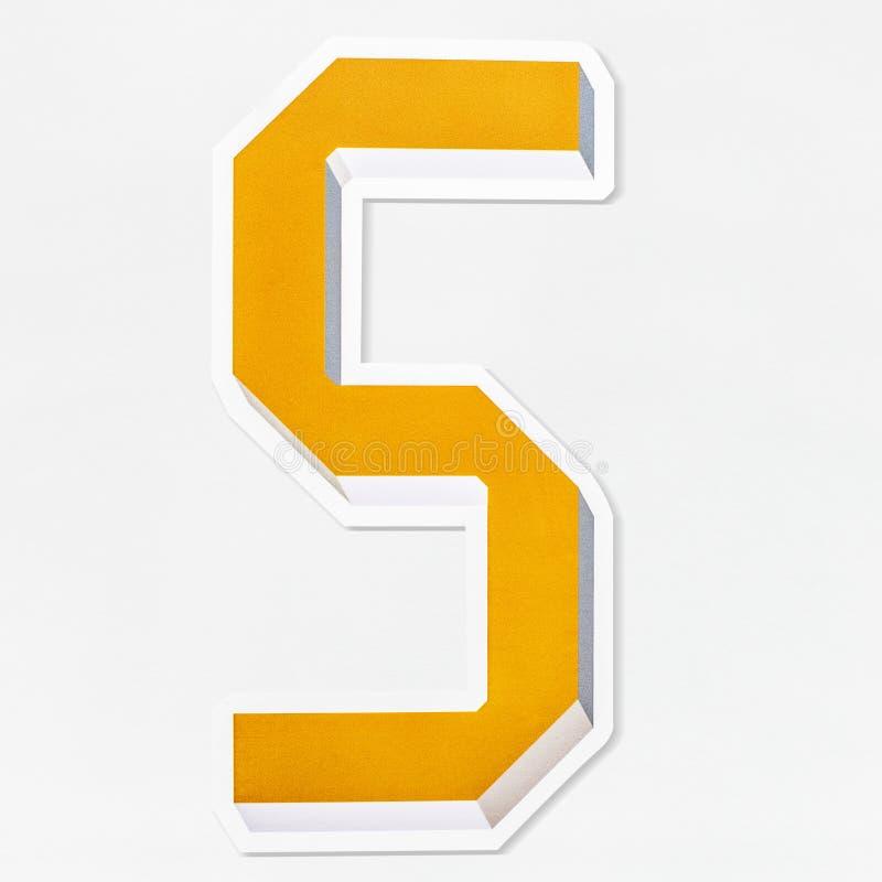 Isolerad symbol för bokstav S för engelskt alfabet royaltyfri illustrationer