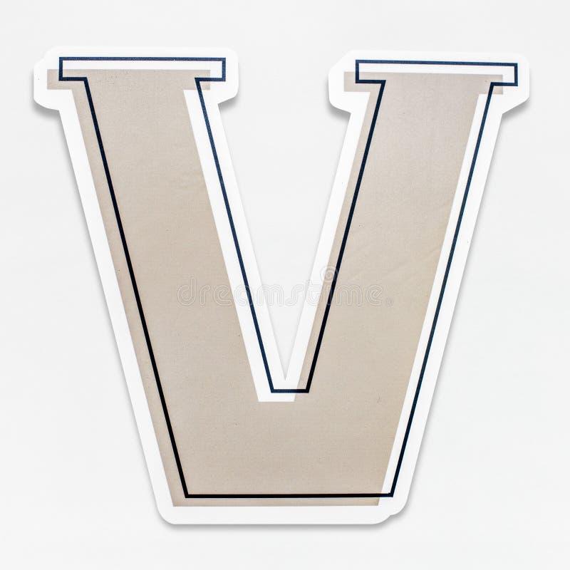 Isolerad symbol för bokstav V för engelskt alfabet vektor illustrationer